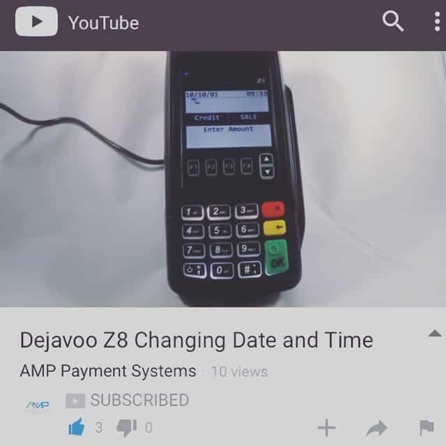 Dejavoo Z8 Change Date & Time