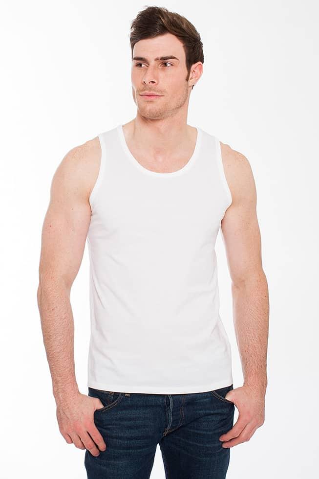 guy in white undershirt